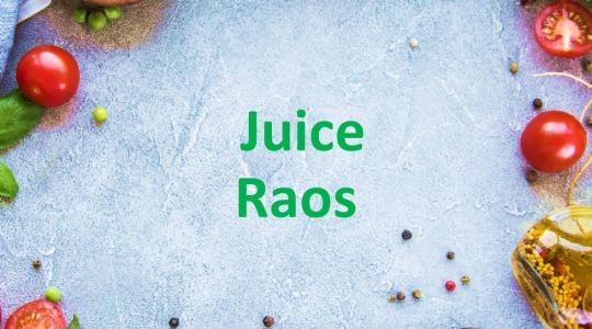 Foto Menu & Review Juice Raos - Bukit Duri - Tebet